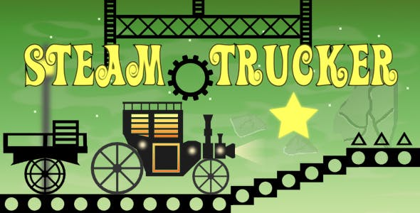 Steam Trucker - HTML5 Mobile Game (Construct 3 | Construct 2 | Capx)