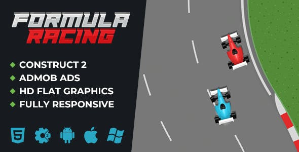 Formula Racing - Crazy Racing HTML5 Game