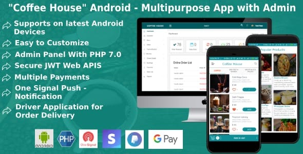android restaurant application with Admin Panel and Driver App - CodeCanyon Item for Sale