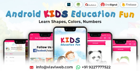Android Kids Education Fun App (Learn Shapes, Colors, Numbers) - CodeCanyon Item for Sale