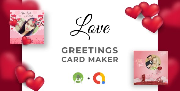 Love Greetings Card Makers & Calculator   Full Application Code   Admob Integrated   Android Studio