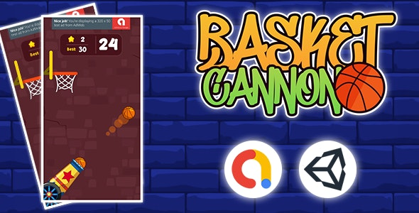 Cannon Shooting Basket Ball Complete Unity Game by mobiecool