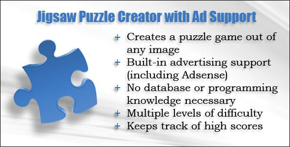 Jigsaw Puzzle Creator with Ad Support