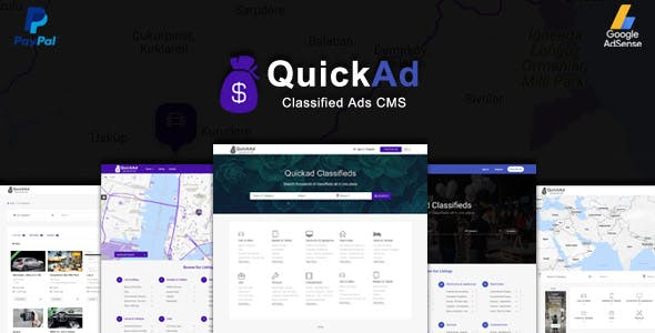 Classified Ads CMS PHP Script - Quickad Classified