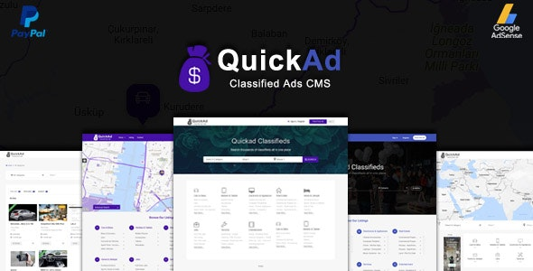 Classified Ads CMS PHP Script - Quickad Classified - CodeCanyon Item for Sale