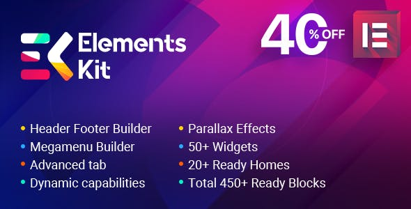 Elements Kit - All In One Addons for Elementor Page Builder