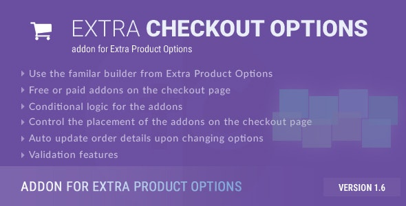 Extra Checkout Options - addon for Extra Product Options - CodeCanyon Item for Sale