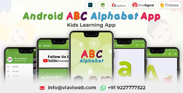 Android ABC Alphabet App - Kids Learning App