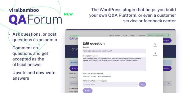QaForum - WordPress Question & Answers Forum Plugin - CodeCanyon Item for Sale