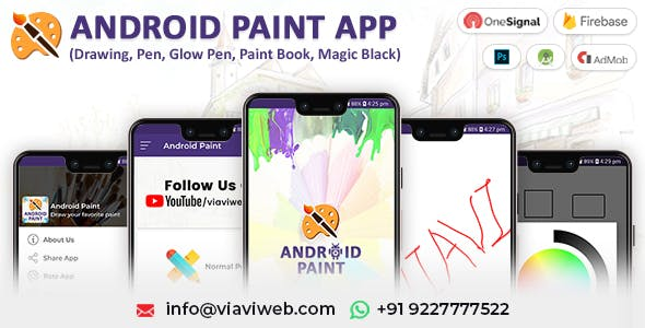 Android Paint App (Drawing Pen, Glow Pen, Paint Book, Magic Black)