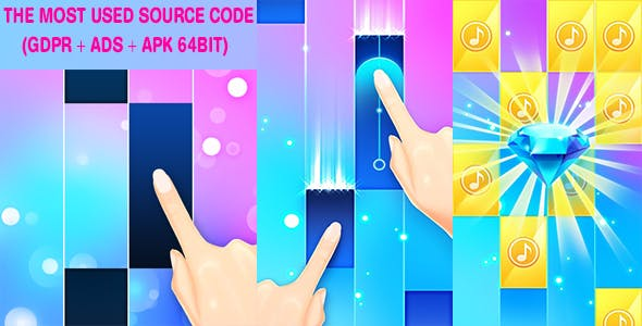 Candy Piano Tiles ( GDPR + Ads + Support 64Bit)