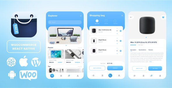 React Native template for Woocommerce - CodeCanyon Item for Sale