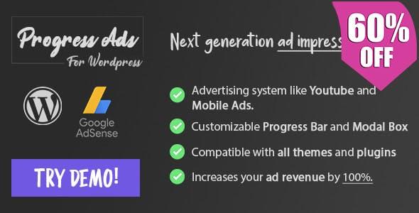 Progress Ads - WordPress Skippable Ads Plugin