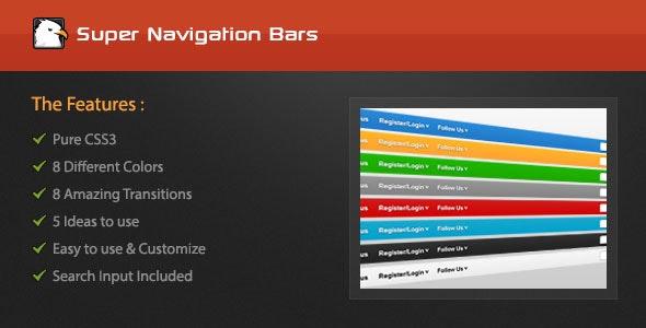 Super Navigation Bars - CodeCanyon Item for Sale