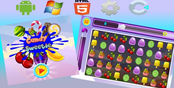 Candy Sweetie - Html5 Game (Capx)