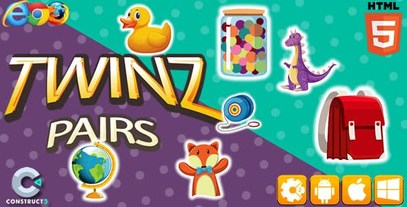 Twinz Pairs - HTML5 Game (CAPX)