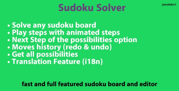 Sudoku Solver - UI & Backend - CodeCanyon Item for Sale