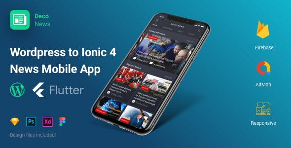 Deco News - Flutter Mobile App for Wordpress
