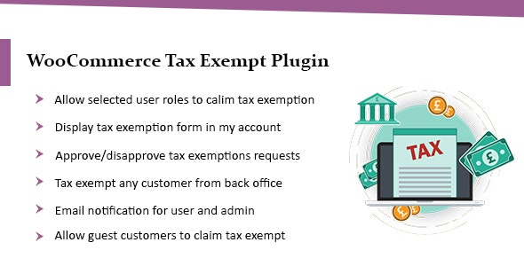 WooCommerce Tax Exempt Plugin - CodeCanyon Item for Sale