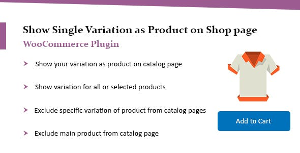 WooCommerce Show Single Variations on Shop Page Plugin