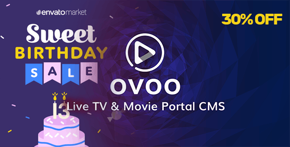OVOO - Live TV & Movie Portal CMS with Unlimited TV-Series