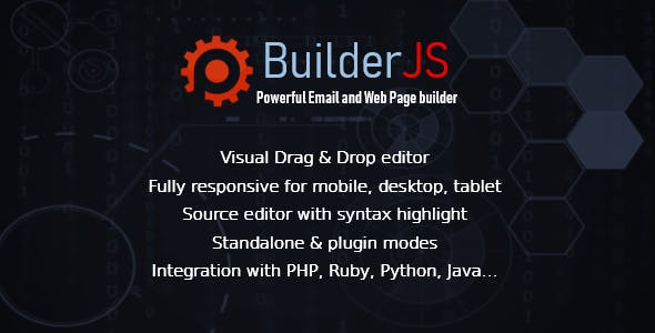 BuilderJS - Visual Drag & Drop HTML Builder