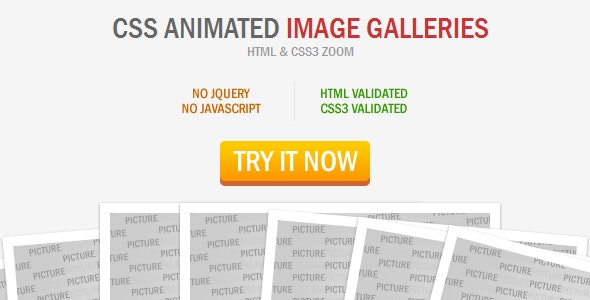 CSS Animated Image Galleries - CodeCanyon Item for Sale