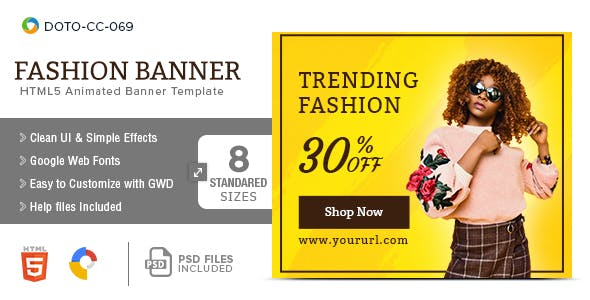 Fashion_HTML5-Banners - 7 Sizes