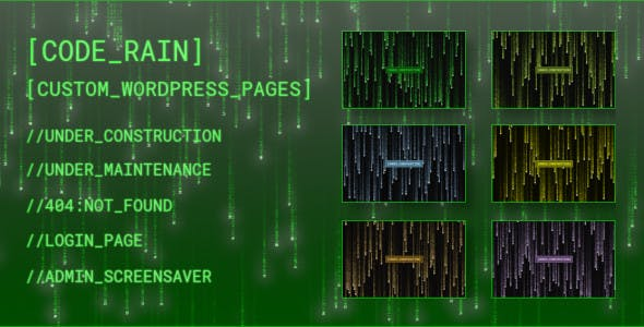 Code Rain - Custom pages for WordPress