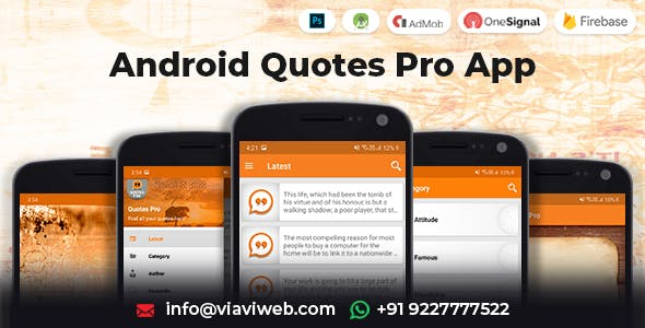 Android Quotes Pro App (Authors, Categories)
