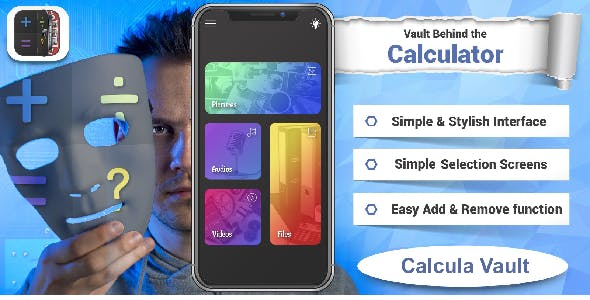 Calcula Vault - Calculator + Vault (Hide photos & videos)