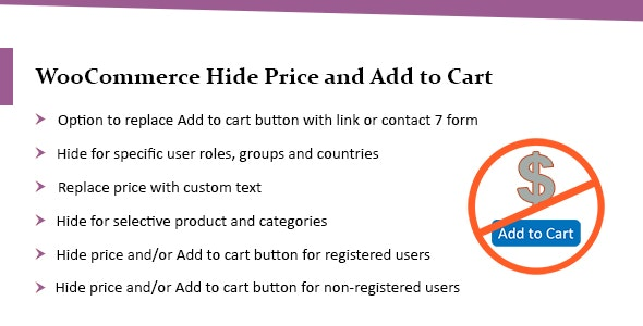 WooCommerce Hide Price Plugin: Hide Add to Cart Button & Price - CodeCanyon Item for Sale