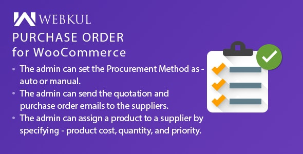 Purchase Order Plugin for WooCommerce - CodeCanyon Item for Sale