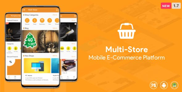Multi-Store ( Mobile eCommerce Android App, Mobile Store App ) 1.7