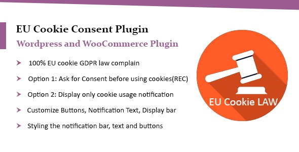 WooCommerce EU Cookie Consent Plugin, Wordpress GDPR Compliance - CodeCanyon Item for Sale