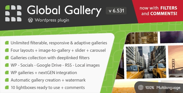 Global Gallery - Wordpress Responsive Gallery by LCweb