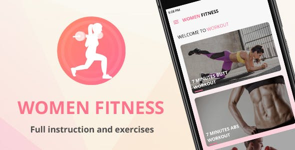 Women Fitness - Female Workout Challenge - Native Android mobile app