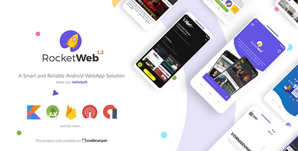 RocketWeb - Configurable Android WebView App Solution