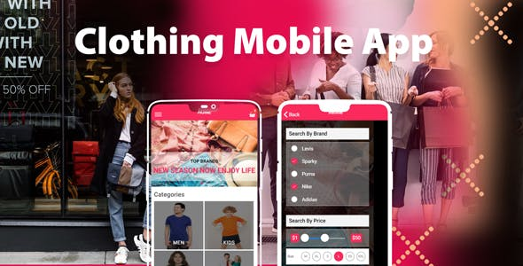 Clothing - Complete Ionic app for e-commerce shop