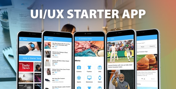Ionic 3 UI/UX Multipurpose Theme/Template App by