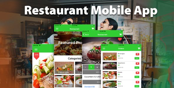 Ionic 3 Restaurant app with Firebase
