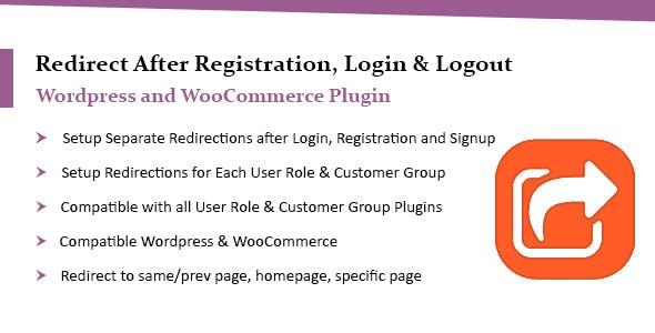 WooCommerce Redirect After Login - Signup & Logout Plugin