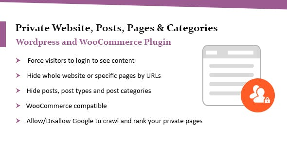 WordPress Private Website Plugin - Hide Posts & Categories