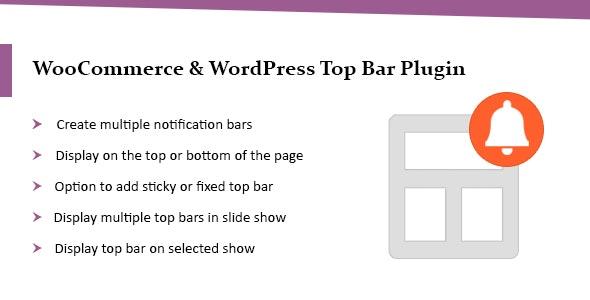WordPress Top Bar Plugin | WooCommerce Top Bar Plugin - CodeCanyon Item for Sale