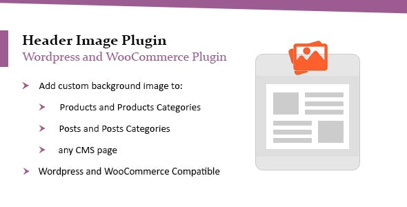 WordPress Header Image Plugin | WooCommerce Header Image