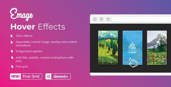Emage - Image Hover Effects for Elementor - CodeCanyon Item for Sale