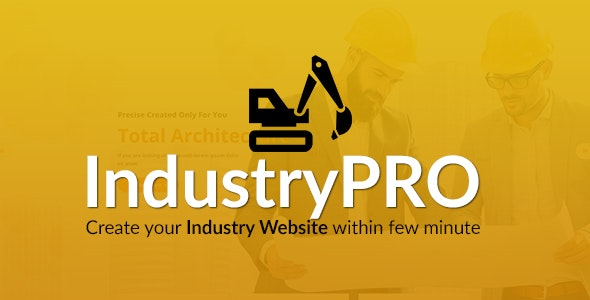 Industry PRO - Multipurpose Construction Builder and Agency Website Script - CodeCanyon Item for Sale