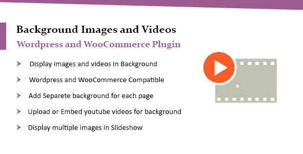 WooCommerce & WordPress Background Image & Video Plugin