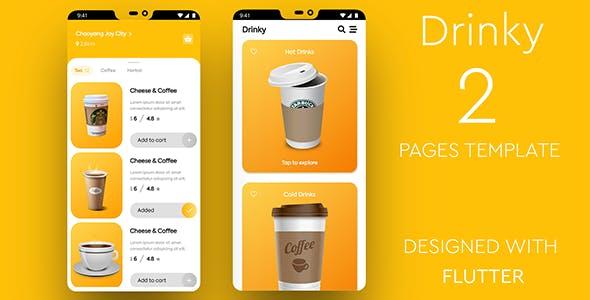 Drinky - Flutter Cafe Order App