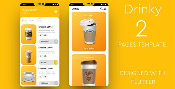 Drinky - Flutter Cafe Order App - CodeCanyon Item for Sale